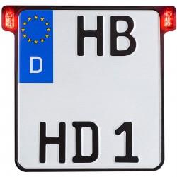 Uchwyt tablicy rejestracyjnej HeinzBikes All-In-One 2.0, z tylnym światłem / światłem stop
