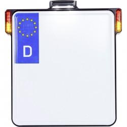 HeinzBikes All-in-One uchwyt tablicy rejestracyjnej ze wskaźnikiem 3w1 + oświetleniem tablicy rejestracyjnej