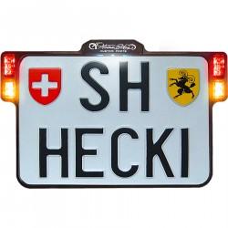 HeinzBikes uchwyt tablicy rejestracyjnej All-In-One 2.0, lampka tablicy rejestracyjnej / wskaźnik 3w1