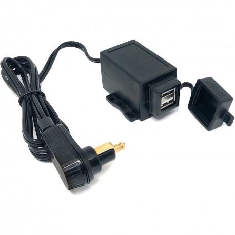 Kabel do torby zbiornikowej BAAS z 2 gniazdami ładującymi USB (2A + 1A), 120 cm