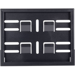 Rama tablicy rejestracyjnej Protech 18x14 cm, czarna, szwajcarska tablica rejestracyjna