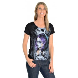 T-Shirt Lethal Angel Queen Of Hearts damski