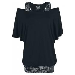 Black t-shirt damski...