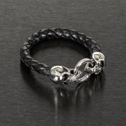 "Bransoleta ""Skull Leather""..."