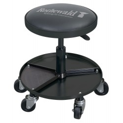 Krzesło warsztatowe ROTHEWALD z półką na narzędzia