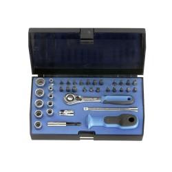 37-częściowy zestaw kluczy nasadowych i bitów GEDORE