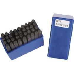 Zestaw do wybijania liter i cyfr 36 elementów, 3mm