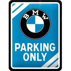 Blaszany szyld METAL SIGN BMW PARKING..