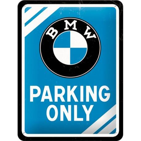 Blaszany szyld METAL SIGN BMW PARKING..