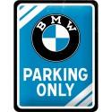 Blaszany szyld dla motocyklisty BMW PARKING 15x20cm