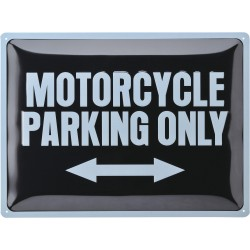 Blaszany szyld MOTORCYCLE PARKING ONLY
