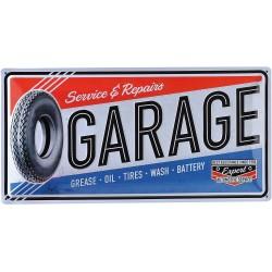 Blaszany szyld dla motocyklisty GARAGE