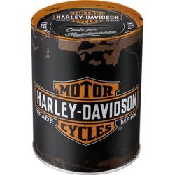 Skarbonka Harley Davidson GENUINE 10x13cm dla motocyklisty