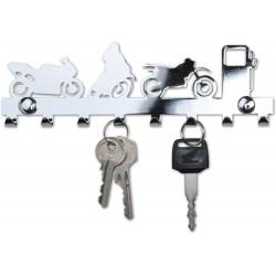 Wieszak motocyklowy na klucze MOTORCYCLE, 8 haków