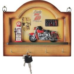 Wieszak motocyklowy z półką na klucze Louis '70