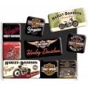 HARLEY DAVIDSON GENUINE Magnesy na lodówkę  dla motocyklisty 9 sztuk