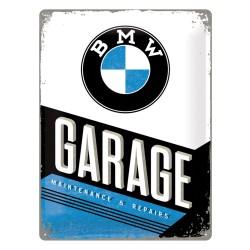 Blaszany szyld dla motocyklisty BMW Garage