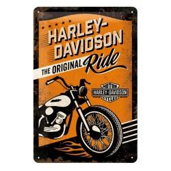 Blaszany szyld dla motocyklisty HARLEY DAVIDSON RIDE 20x30cm