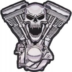 Naszywka Skull V-Twin LETHAL THREAT dla motocyklisty 29,5x29cm