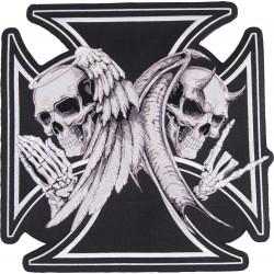 Naszywka Angel and Devil LETHAL THREAT dla motocyklisty, 28,5x28,5cm