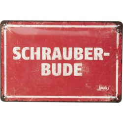 Blaszany szyld dla motocyklisty Schrauberbude 200x300mm