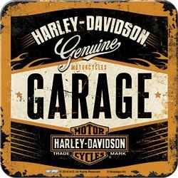 Podstawka pod kubek dla motocyklisty Harley Davidson 9x9cm