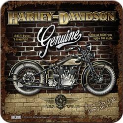 Podstawka pod kubek dla motocyklisty Harley Davidson Coasters V-Twins