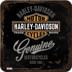 Podstawka pod kubek dla motocyklisty Harley Davidson Coasters Genuine  9x9cm