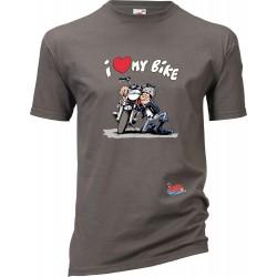 Koszulka motocyklowa MOTOMANIA I LOVE MY BIKE