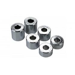 Dystansowe tuleje aluminiowe chromowane zestaw 6 sztuk (2x 10/15/20mm)