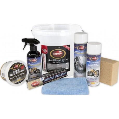 Zestaw do czyszczenia i polerowania motocykla 8 częściowy AUTOSOL