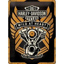 Blaszany szyld dla motocyklisty HARLEY-DAVIDSON WILD AT HEART