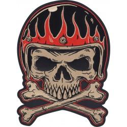 Naszywka motocyklowa LETHAL THREAT Flame Helmet