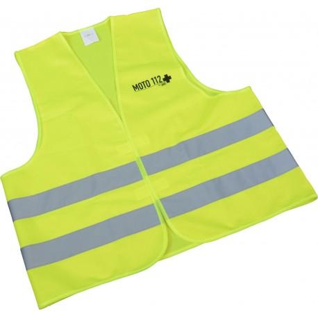 Kamizelka odblaskowa dla motocyklistki i motocyklisty żółta Neon