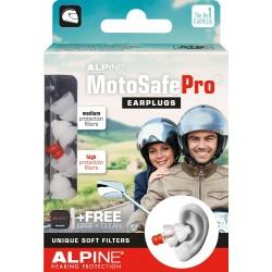 Stopery do uszu ALPINE MOTOSAFE PRO TOUR + RACE dla motocyklisty