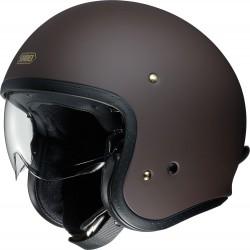 Kask motocyklowy otwarty SHOEI J.O brązowy mat