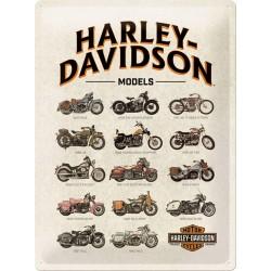 "Blaszany szyld Harley-Davidson ""Modele"" 30x40cm"