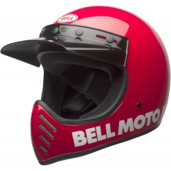 BELL MOTO-3 CLASSIC kask enduro czerwony