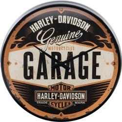 Zegar ścienny dla motocyklisty Harley Davidson Garage
