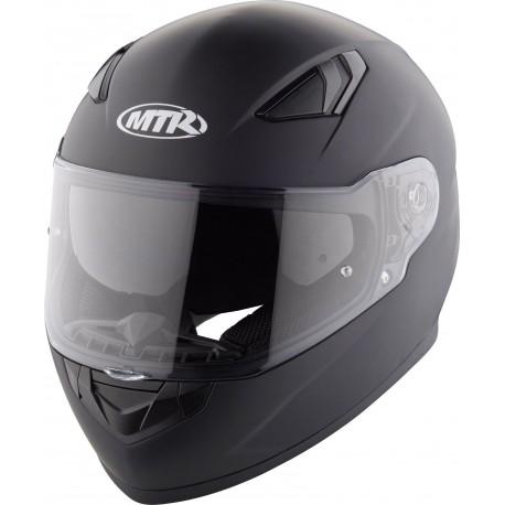Kask motocyklowy integralny MTR S-12 Czarny Mat