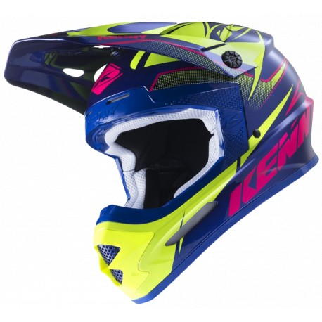 Kask crossowy KENNY TRACK Navy/Pink/Lime