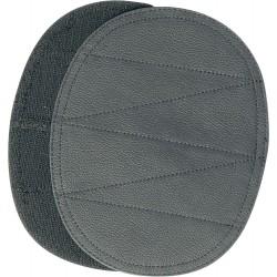 Skórzane osłony do kombinezonu czarne okrągłe LOUIS