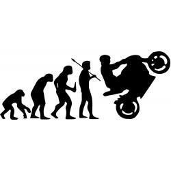Naklejki Ewolucja Motocyklisty