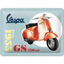 Blaszany szyld dla motocyklisty VESPA, 15x20cm