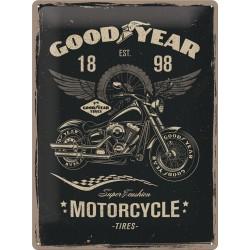 """Blaszany szyld dla motocyklisty GOODYEAR """"MOTORCYCLE"""" 300x400mm"""