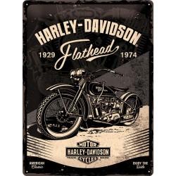"""Blaszany szyld dla motocyklisty HARLEY DAVIDSON """"FLATHEAD"""""""