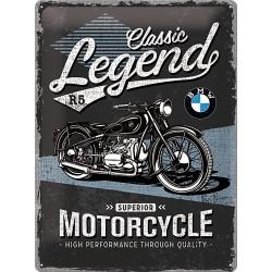 """Blaszany szyld dla motocyklisty BMW """"Legend"""" 30x40cm"""