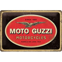 Blaszany szyld dla motocyklisty MOTO GUZZI LOGO 30x20cm
