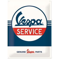 """Blaszany szyld dla motocyklisty VESPA LOGO """"Service"""""""