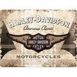 """Blaszany szyld dla motocyklisty HARLEY DAVIDSON """"Motorcycles"""""""